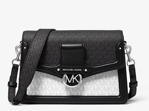 Michael Kors Jessie Medium Two-Tone Logo Shoulder Bag