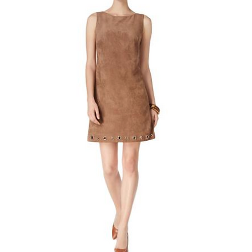 Dress, Suede Leather with Grommets
