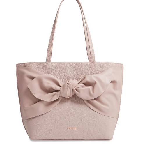 Ted Baker London Diiana Soft Knot Detail Leather-Pink