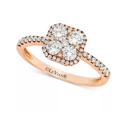 Le Vian Diamond (1 C.T.T.W.) Halo Ring 14K Rose Gold