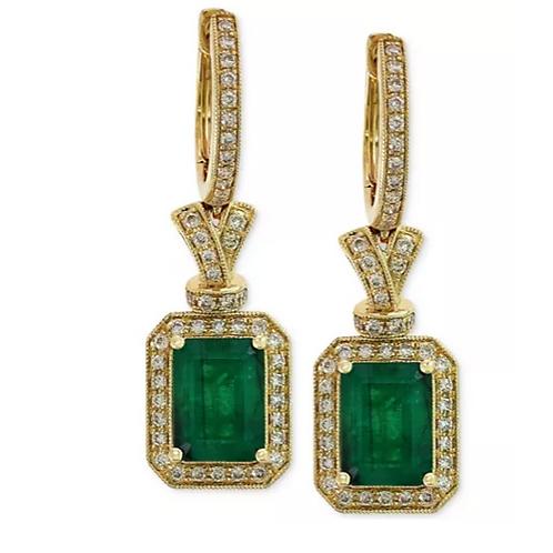 Brasillica By EFFY Emerald (2-7/8 cttw) and Diamond 14K YG(1/2 cttw)