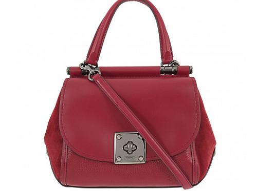 Handbag, Coach Satchel Red Leather