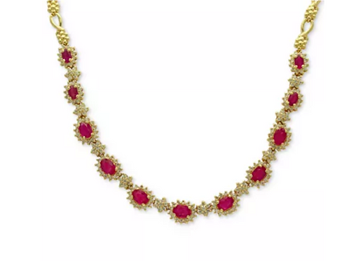 EFFY Ruby and Diamond Collar Necklace 14K (8 C.T.T.W.)