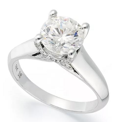 X3 Certified Diamond (1-1/2 C.T.T.W.)Engagement Ring 18K WG