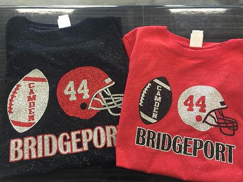 BHS Football Custom Glitter Shirt