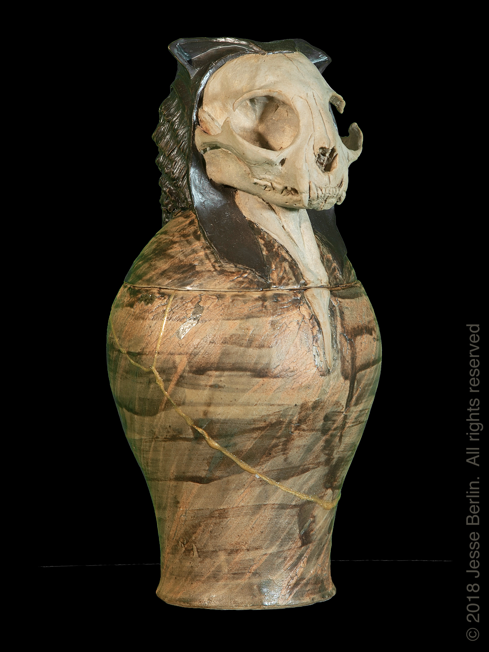 Bast 3 Canopic Jar/Funerary Urn