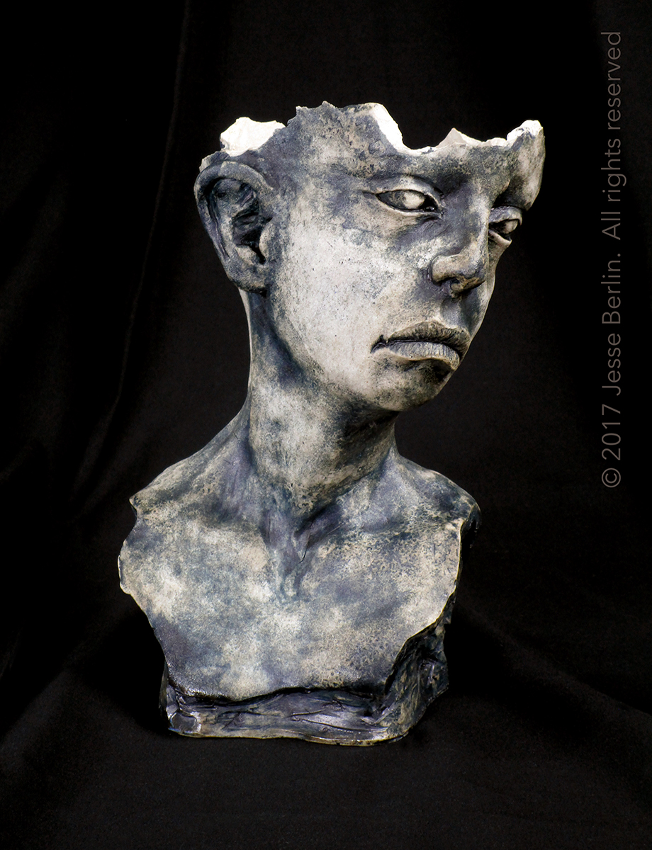 Fragmented Bust Planter