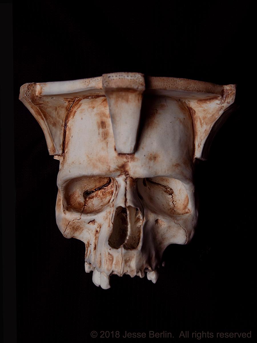 Human Skull Wall Sconce
