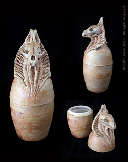 Anubis Canopic Jar/Funerary Urn