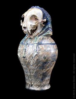 Bast #4 Canopic Jar/Funerary Urn