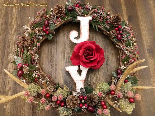 "Red ""Joy"" Wreath"