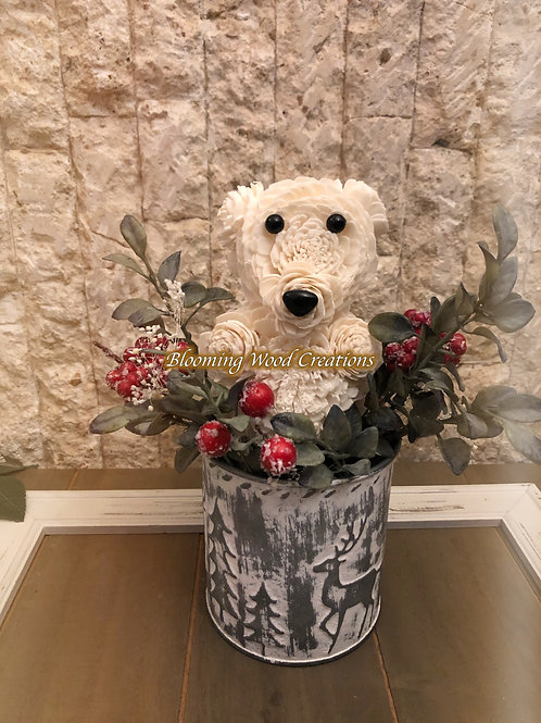 White Christmas Blooming Bears