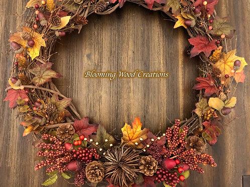 Fall Grapevine Wreath