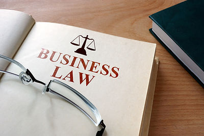 Notepad with words  business law..jpg