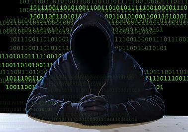 Hacking Expert Man In Hood As Sensitive