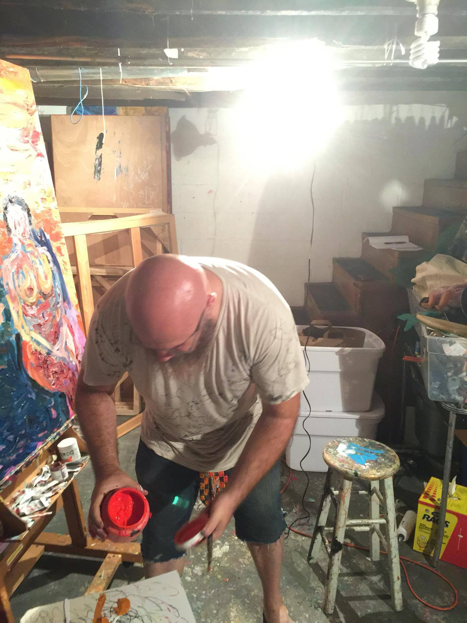 Art working being created