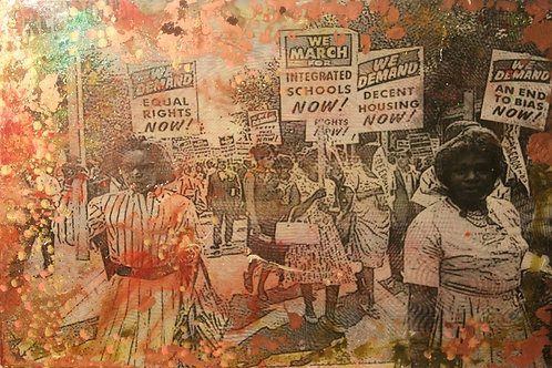 Equal Rights 28in by 42in mixed media