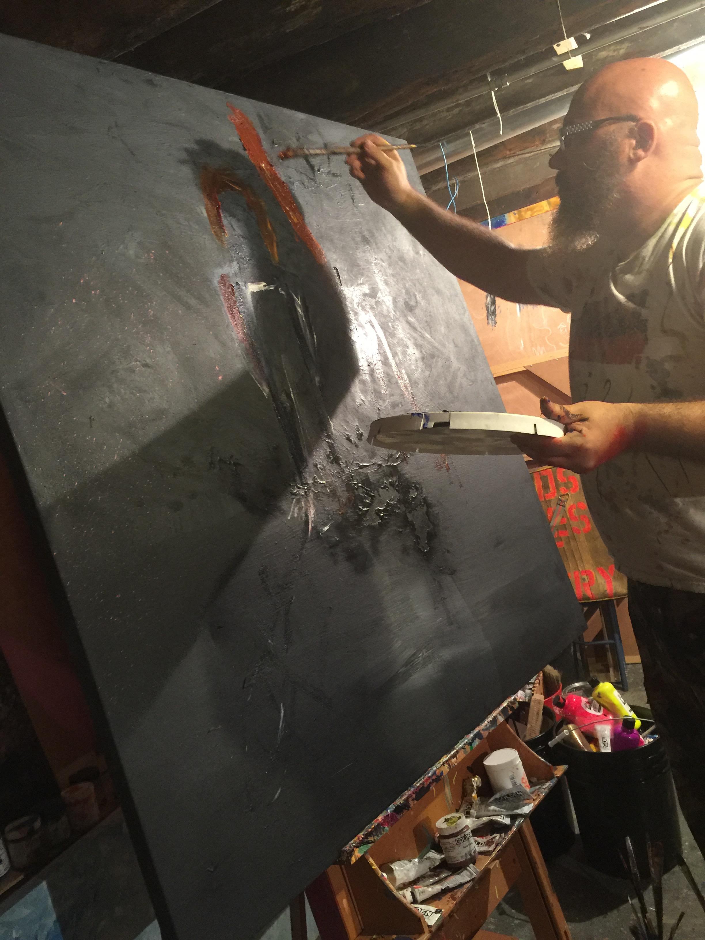 beging painting