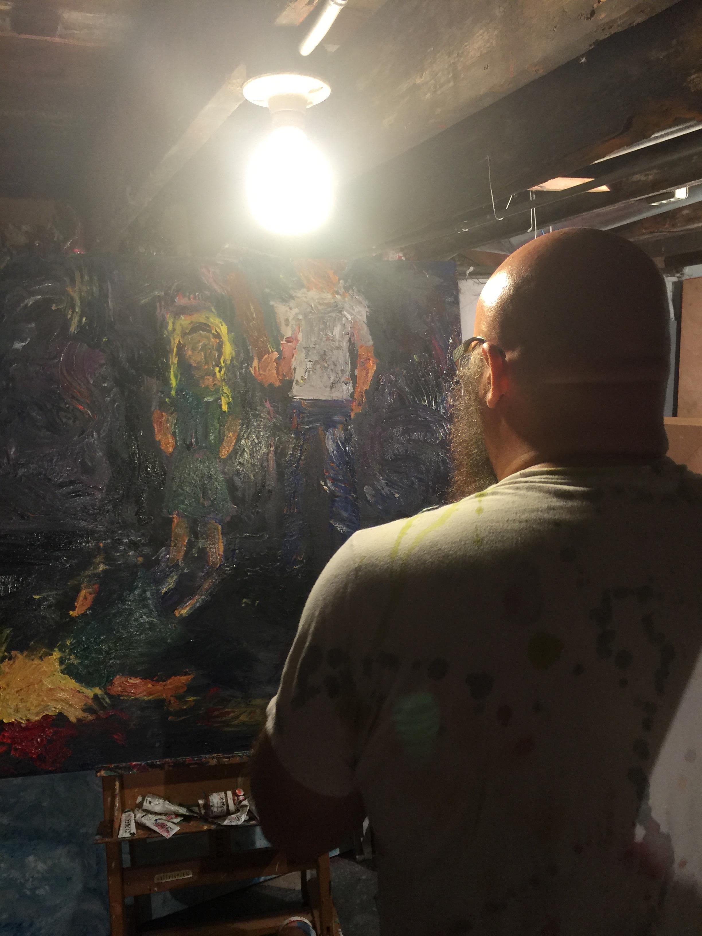 Contiplateing art work in progress