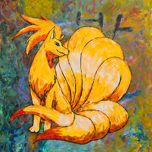 Nine Tails 48in by 48in All proceeds of this sale go to Childhood Fractured
