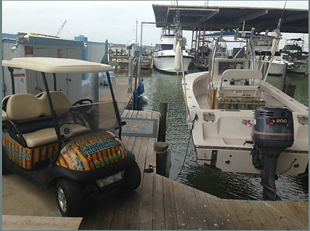 Galveston Fishing Charter Company Private Dock