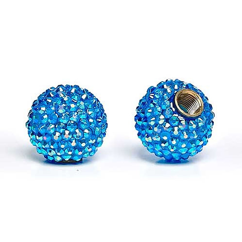 Aqua Bling Handle Knobs
