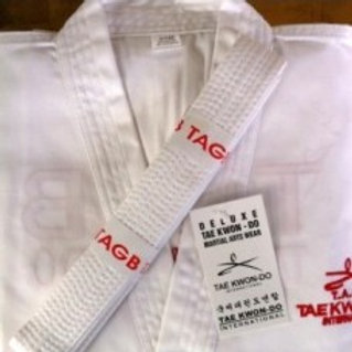 White TAGB Coloured Belt Dobok
