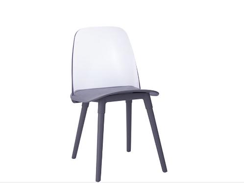 Pasha Acrylic Chair, Black (Set Of 2)