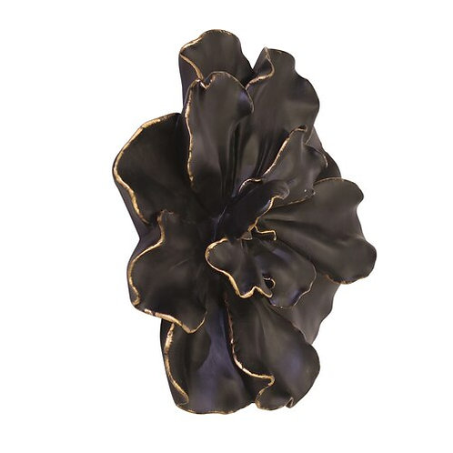 Wall Flower, Black/Gold 20""
