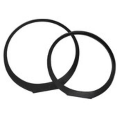 "Circle Sculpture, Black 14/17"" (Set of 2)"