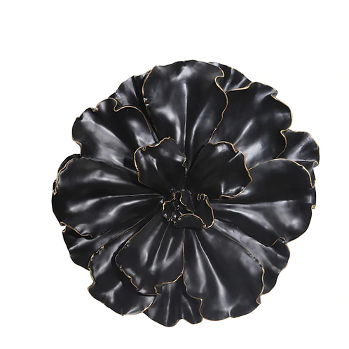 Wall Flower, Black/Gold 15.5""
