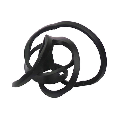 """Metal Knotted Orb, Black 9"""""""