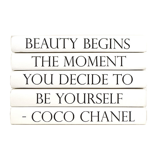 "5 Vol. Coco Chanel ""Beauty Begins The Moment..."" Quote"