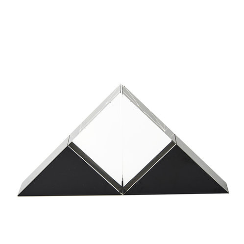 Bookends, Black/Clear (Set of 2)