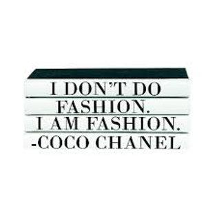 "4 Vol. ""… I am Fashion."" Quote"