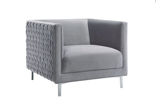Sal Woven Chair, Grey
