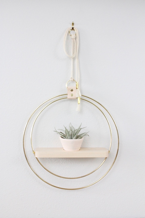 Braid & Wood Design Studio - Plant Shelf Blush