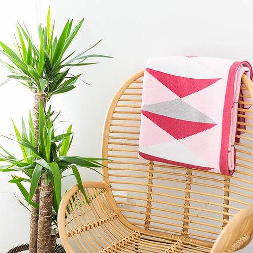 Seek & Swoon - Hope Throw Blanket (pink)
