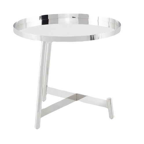 Landon Side Table, Silver