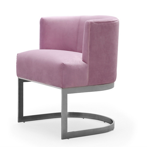 Eva Velvet Chair, Blush