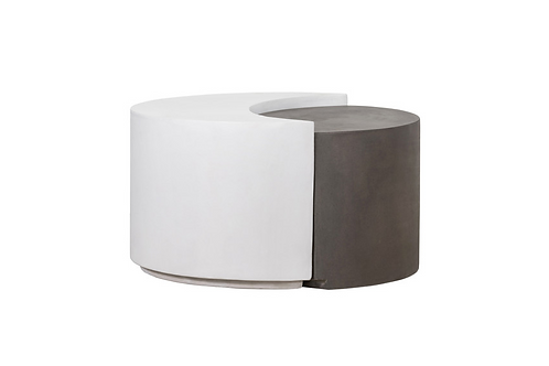 Concrete Cocktail Table, Divide Grey/White
