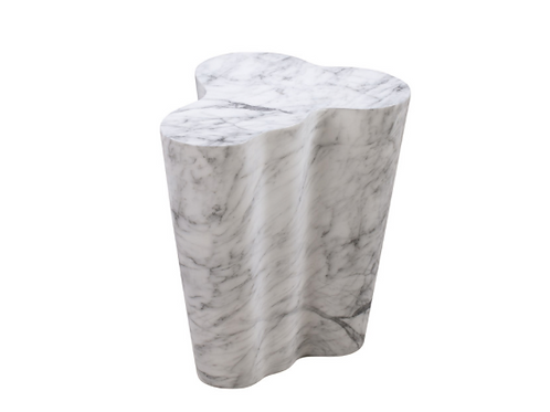 Slab Marble Tall Side Table