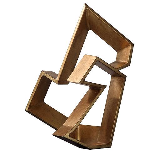 Puzzle Sculpture, Gold Leaf