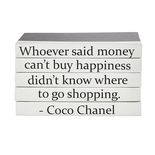 "5 Vol. Coco Chanel ""Whoever Said Money Can't Buy …"" Quote"