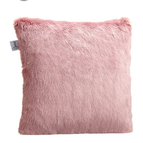"18""Wx18""L Fur Pillow  Pink Mauve"