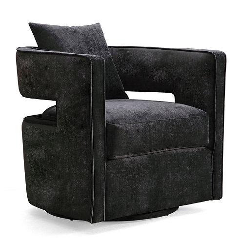 Kennedy Swivel Chair, Black