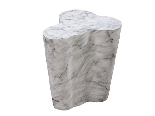 Slab Marble Short Side Table