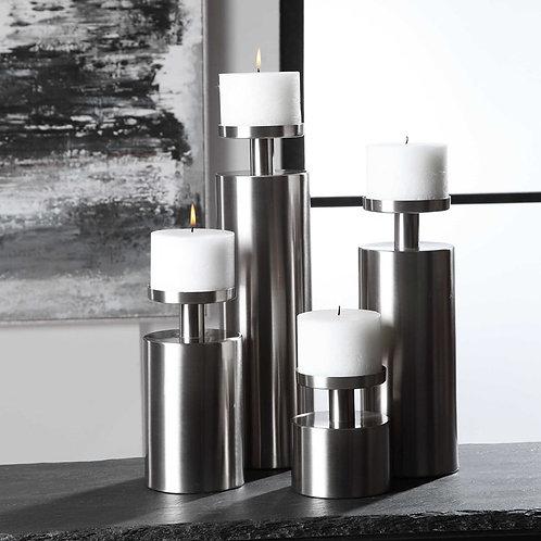 Kamdyn Candleholders, Silver (Set of 4)