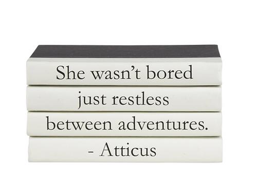 """4 Vol. """"She Wasn't Bored"""" Quote"""
