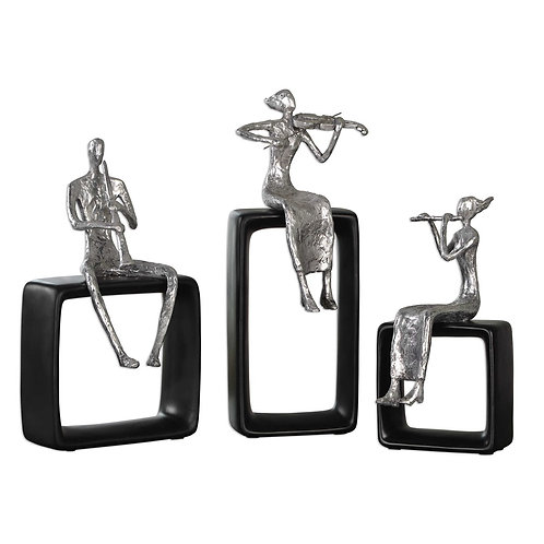 Musical Ensemble Figurines (Set of 3)